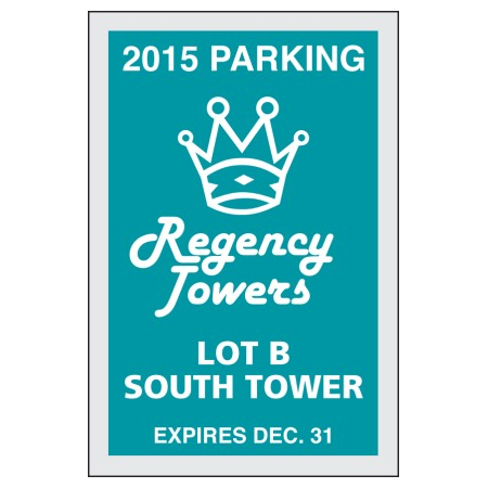 "Item #701 2"" x 3"" square-cut parking permits"