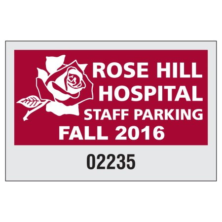 "Item #702 3"" x 2"" square-cut parking permits"