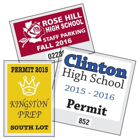 static cling square cut parking permit